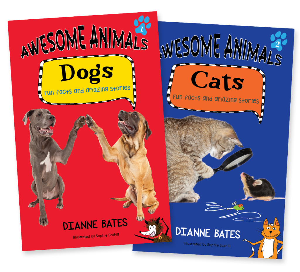 Awesome Animals Dogs and Cats Book Covers