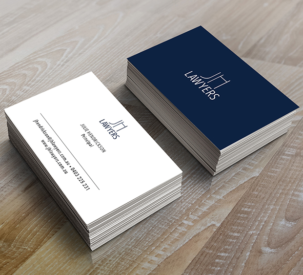 JH Lawyers business cards