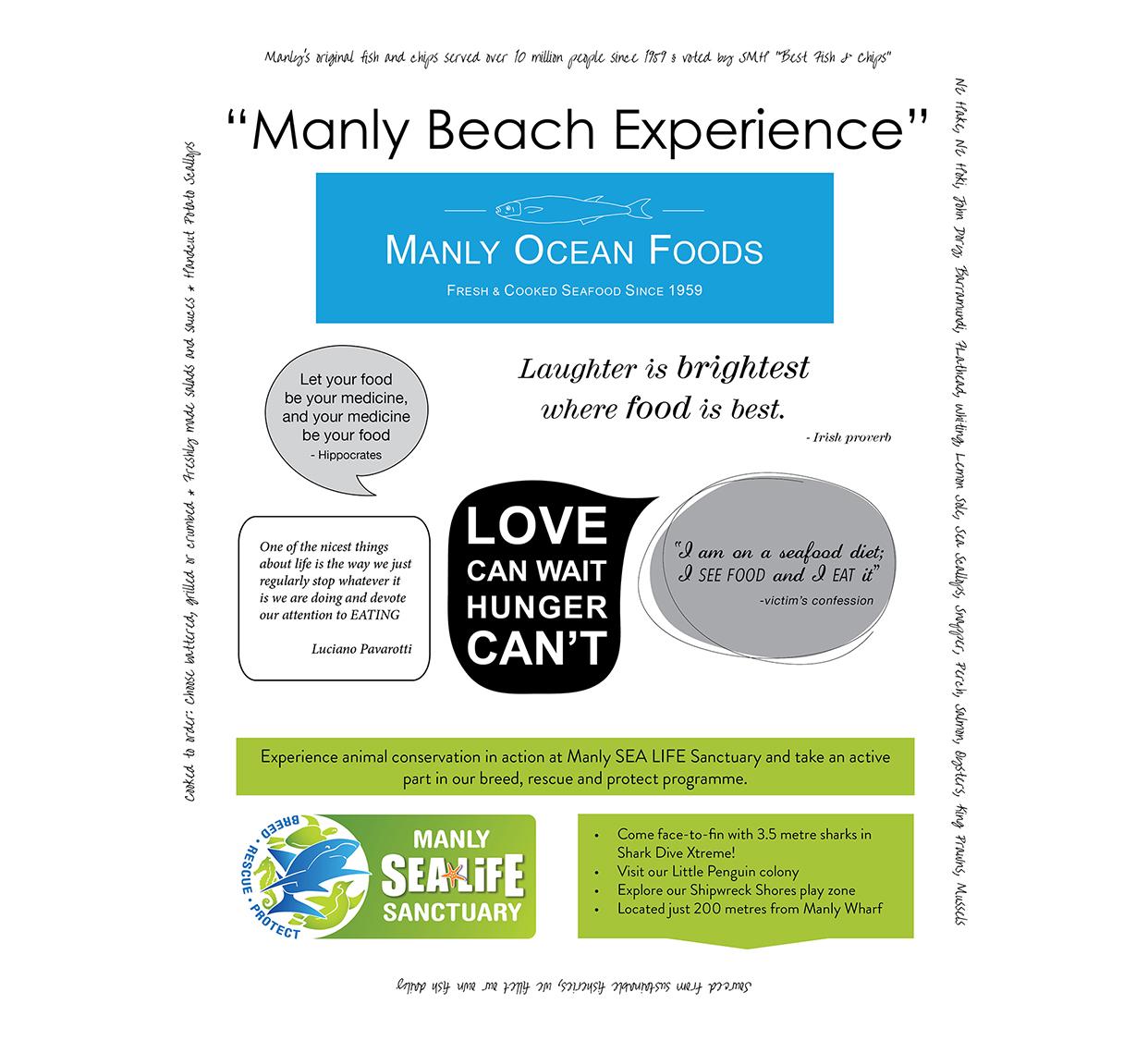 Manly Ocean Foods Packaging Design
