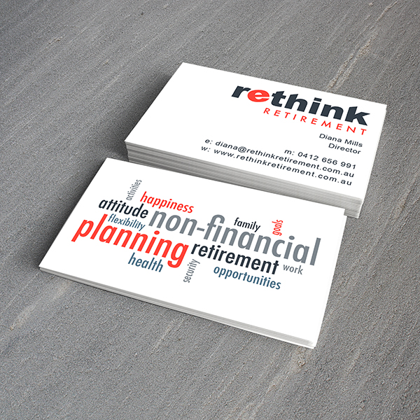 Rethink Retirement Business Cards