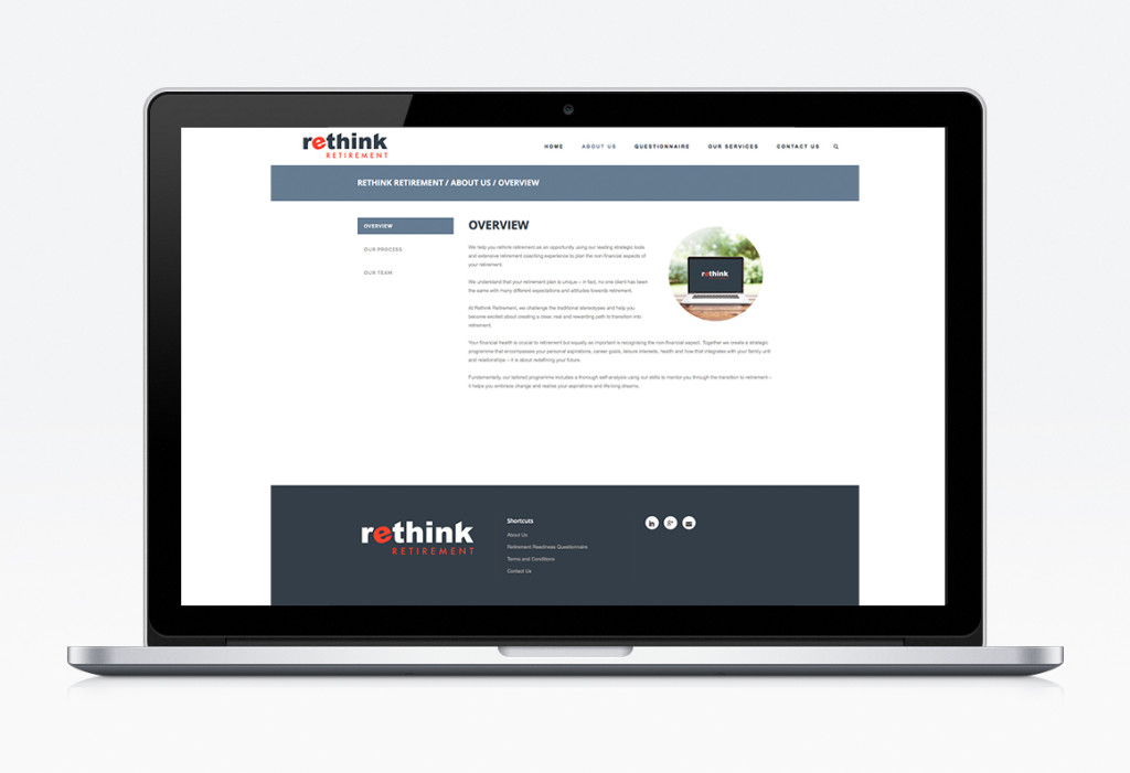 Rethink Retirement web display